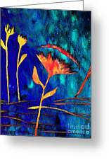 Poppy At Night Abstract 2 Greeting Card