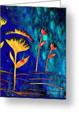 Poppy At Night Abstract 3  Greeting Card