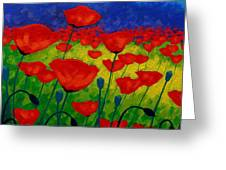 Poppy Corner II Greeting Card