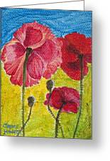 Poppy Family Greeting Card