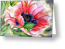 Poppy In The Pink Greeting Card