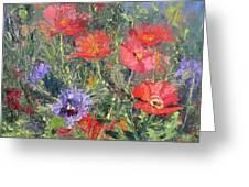 Poppy Parade Greeting Card