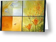 Poppy Pollination Greeting Card