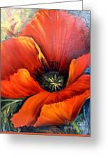 Poppy Red Greeting Card