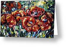 Poppy Red Flowers Greeting Card