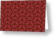 Poppy Sierpinski Triangle Fractal Greeting Card