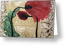 Poppys Entwined Greeting Card