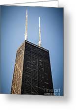 Popular Chicago Hancock Building Skyscraper Greeting Card