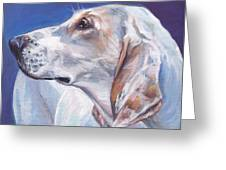 Porcelaine Hound Greeting Card