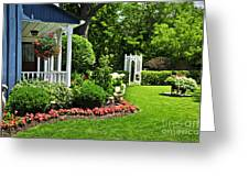 Porch And Garden Greeting Card