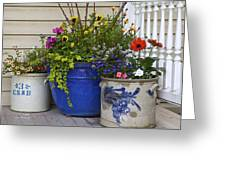 Porch Flowers Greeting Card by Steve and Sharon Smith