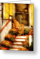 Porch - In The Light Of Autumn Greeting Card