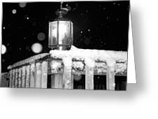 Porch Light Bw Greeting Card