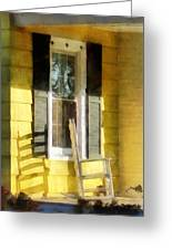 Porch - Long Afternoon Shadow Of Rocking Chair Greeting Card