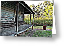 Porch Side Of Old House Greeting Card