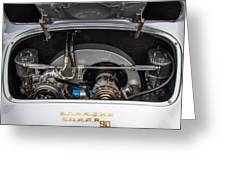 Porsche 356b Super 90 Engine Greeting Card