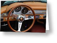 Porsche 356b Super 90 Interior Greeting Card