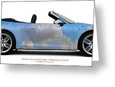 Porsche 911 Cab Elvington Clouds Greeting Card