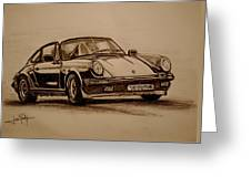 Porsche 911 Carrera Greeting Card