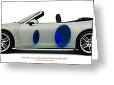 Porsche 911 Colourscape Sivler-blu Greeting Card