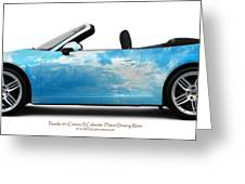 Porsche 911 Flixton Drawing Water Greeting Card