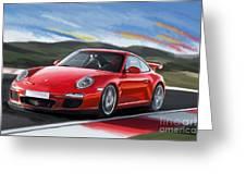 Porsche 911 Gt3 Greeting Card