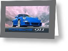 Porsche 911 No 1 Greeting Card