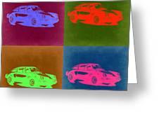 Porsche 911 Pop Art 3 Greeting Card