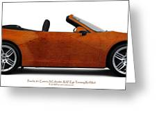 Porsche 911 Ref Eye Red Taxi Greeting Card