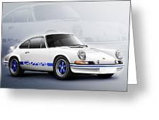 Porsche 911 Rs 1973 Greeting Card
