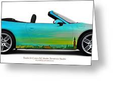 Porsche 911 Sunset Over Sweden  Greeting Card