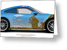 Porsche 911 Visingsoe Barn Greeting Card