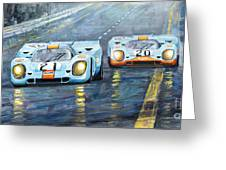 Porsche 917 K Gulf Spa Francorchamps 1971 Greeting Card
