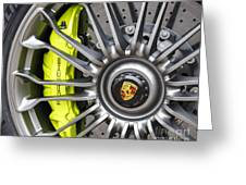 Porsche 918 Wheel Greeting Card