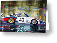 Porsche 935 Coupe Moby Dick Greeting Card