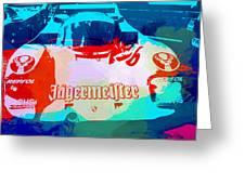 Porsche 956 Jagermeister Greeting Card by Naxart Studio