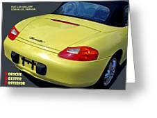 Porsche Boxster Posterior Greeting Card