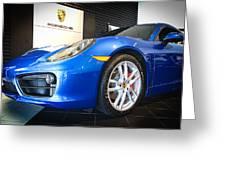 Porsche Cayman S In Sapphire Blue Greeting Card