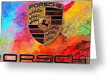 Porsche In Abstract Greeting Card