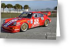 Porsche Rsr Race Car At Sebring Greeting Card