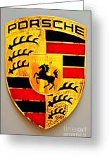 Porsche Stuttgart Greeting Card by Andres LaBrada