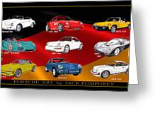 Porsche Times Nine Greeting Card