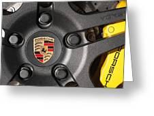Porsche Vorsteiner Wheel Logo Greeting Card