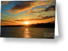 Port Angeles Sunburst Greeting Card