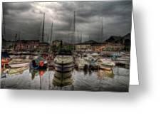 Port At Como Lake Greeting Card