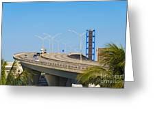 Port Boulevard Bridge Miami Greeting Card