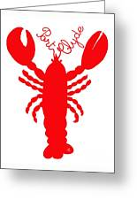 Port Clyde Maine Lobster With Feelers 201300605 Greeting Card
