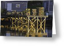Port Clyde Pier On The Coast Of Maine Greeting Card