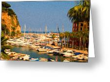 Port De Fontvieille Greeting Card