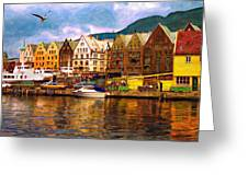 Port Life Watercolor Greeting Card